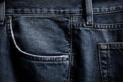 Zwarte jeanszak Royalty-vrije Stock Fotografie