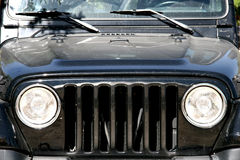 Zwarte Jeep - Offroad auto Stock Foto