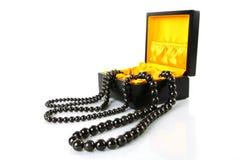 Zwarte juwelen Stock Afbeeldingen