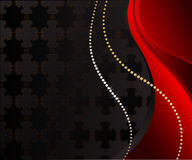 Zwarte juwelenachtergrond Stock Illustratie
