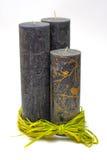 Zwarte Kaarsen Royalty-vrije Stock Afbeeldingen