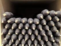 Zwarte kaarsen op een giftwinkel Royalty-vrije Stock Foto