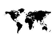 Zwarte kaartwereld Stock Foto