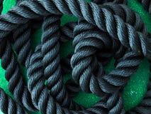 Zwarte Kabel Stock Foto