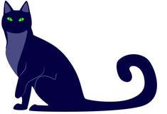 Zwarte kat Stock Fotografie