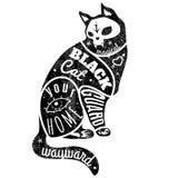 Zwarte kat vector illustratie
