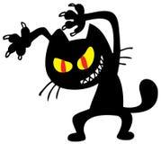 Zwarte kat Stock Foto