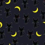 Zwarte kat als achtergrond Stock Foto's
