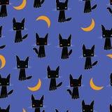 Zwarte kat als achtergrond Royalty-vrije Stock Fotografie