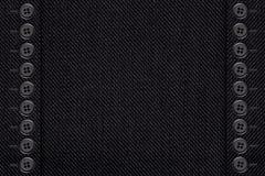 Zwarte katoenen textuur Stock Foto's