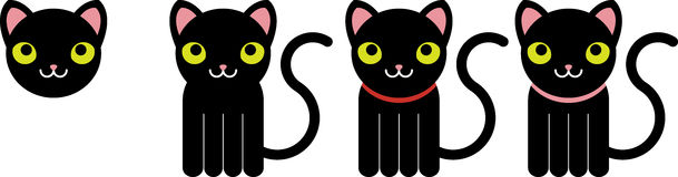 Zwarte katten Royalty-vrije Stock Afbeeldingen