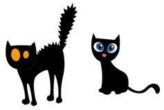 Zwarte Katten Royalty-vrije Illustratie