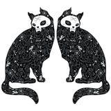 Zwarte katten Stock Afbeelding
