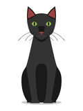 Zwarte kattenzitting, Stock Afbeelding