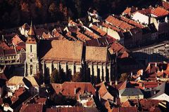 Zwarte kerk Brasov Royalty-vrije Stock Foto's