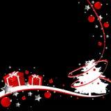 Zwarte Kerstmis Stock Foto