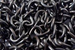 Zwarte kettingstextuur royalty-vrije stock afbeelding