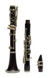 Zwarte klarinet Stock Afbeeldingen