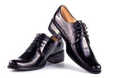 Zwarte klassieke laarzen Stock Afbeeldingen