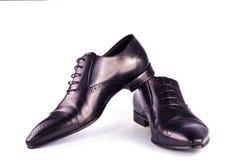Zwarte klassieke laarzen Royalty-vrije Stock Afbeeldingen