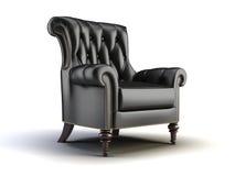 Zwarte klassieke stoel stock illustratie