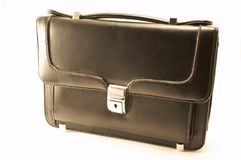 Zwarte kleine koffer   Stock Afbeeldingen