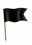 Zwarte kleine vlag Stock Afbeelding
