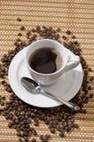 Zwarte koffie Stock Foto