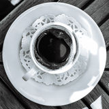 Zwarte koffie Royalty-vrije Stock Afbeeldingen