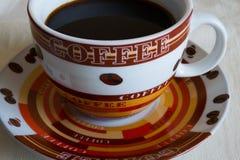 Zwarte koffie Stock Afbeelding