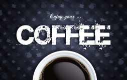 Zwarte koffie royalty-vrije stock afbeelding