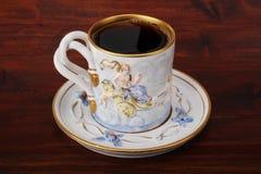Zwarte koffie in de kop van China Stock Foto's