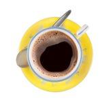 Zwarte koffie in keurig gevormde kop royalty-vrije stock foto's