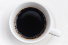 Zwarte koffiekop Stock Foto's