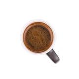 Zwarte koffiekop Stock Afbeeldingen