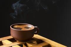 Zwarte koffiekop Stock Fotografie