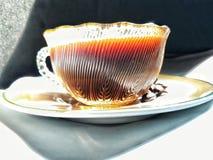 Zwarte koffietijd stock foto's