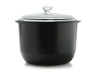Zwarte Kokende Pot Royalty-vrije Stock Fotografie