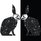 Zwarte konijnen stock illustratie