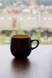 Zwarte Kop met zwarte koffie Royalty-vrije Stock Afbeeldingen