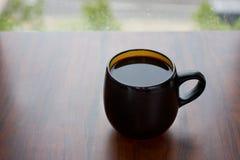 Zwarte Kop met zwarte koffie Royalty-vrije Stock Foto