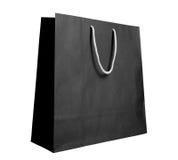 Zwarte kringloopdocument het winkelen zak Royalty-vrije Stock Foto's