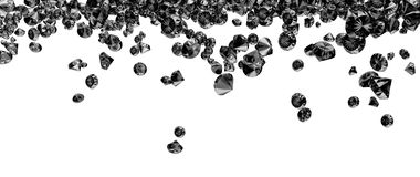 Zwarte kristallen Royalty-vrije Stock Fotografie