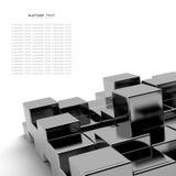 Zwarte kubussen abstracte achtergrond royalty-vrije illustratie
