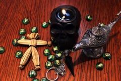 Zwarte kunst rituele geheime esoterische symbolen Royalty-vrije Stock Afbeelding
