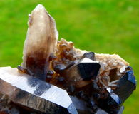 Zwarte kwartskristallen stock fotografie
