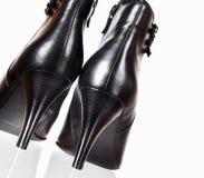 Zwarte laarzen Royalty-vrije Stock Fotografie