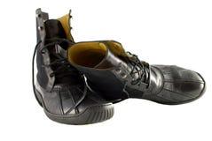 Zwarte laarzen Royalty-vrije Stock Foto's