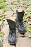 Zwarte laarzen Stock Foto