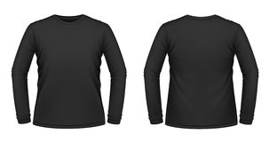 Zwarte lang-sleeved T-shirt Royalty-vrije Stock Foto